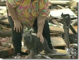 Woman finds dog buried after tornado in Oklahoma