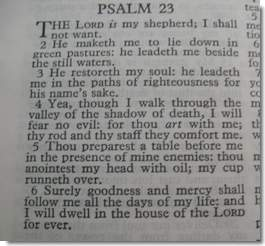 Psalm 23 - The King of Love My Shepherd Is