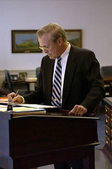 Donald Rumsfeld stand-up desk