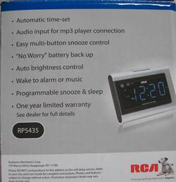 RCA clock radio