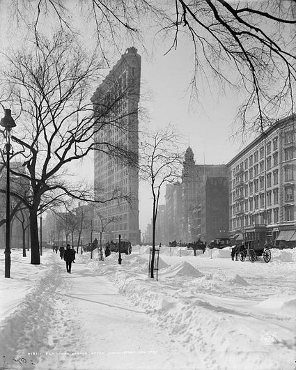 Flatiron Building, winter