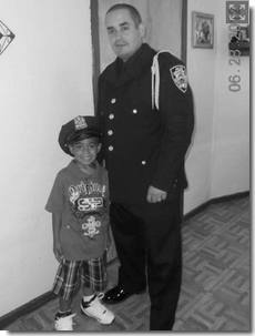 Officer Ralph Ramos and young relative