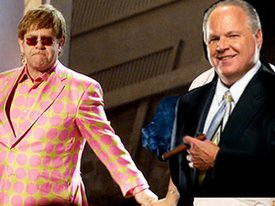 Rush Limbaugh and Elton John